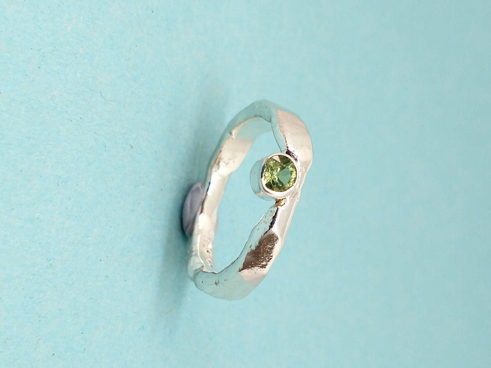 Rough Seas Green Sapphire Ring