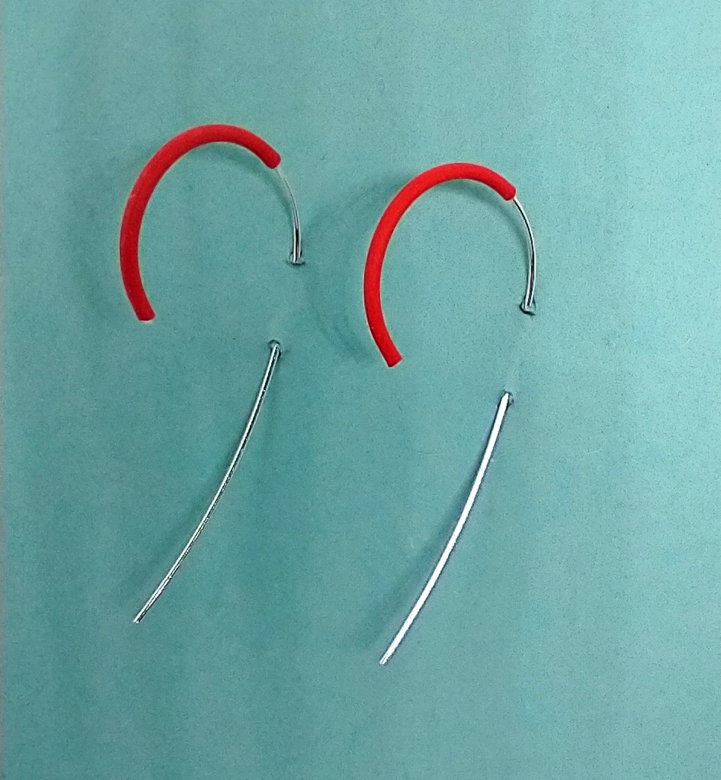 Red Railing Earrings