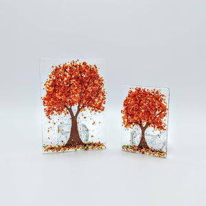 Autumn Cherry Tree Tea Light Holder & Shade