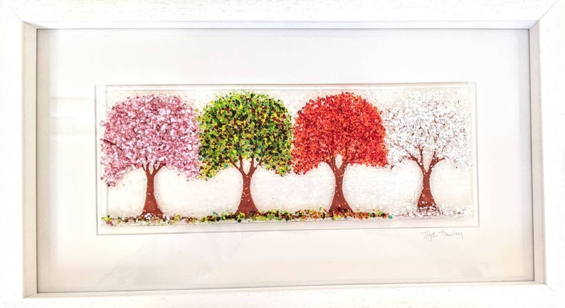 Cherry Tree through the seasons framed picture