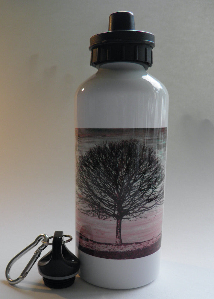 Light Water Bottle with Purple Tree Image