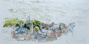 Wirksworth from the Puzzle Gardens
