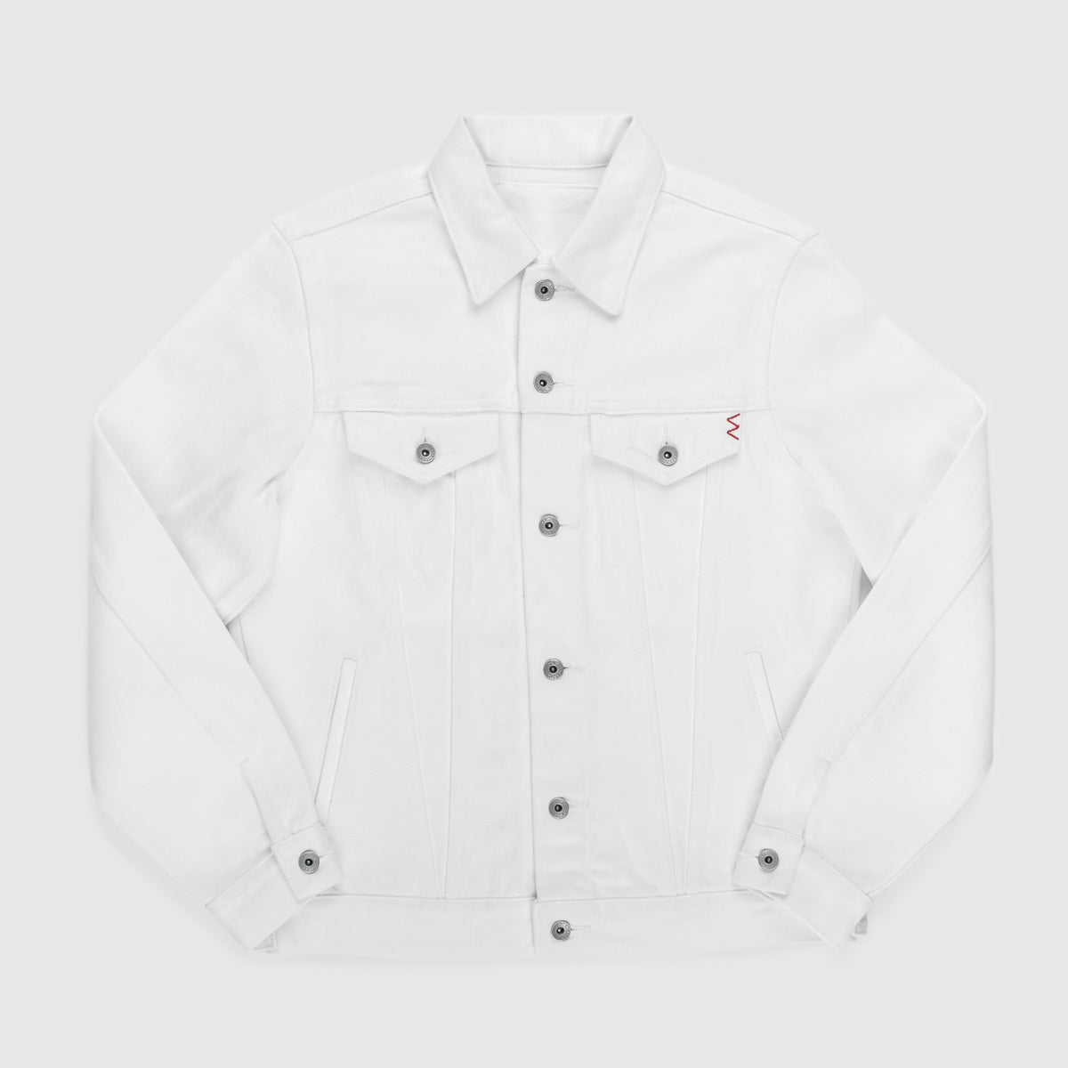 IH-526J - 21oz Selvedge Denim Modified Type III Jacket - White