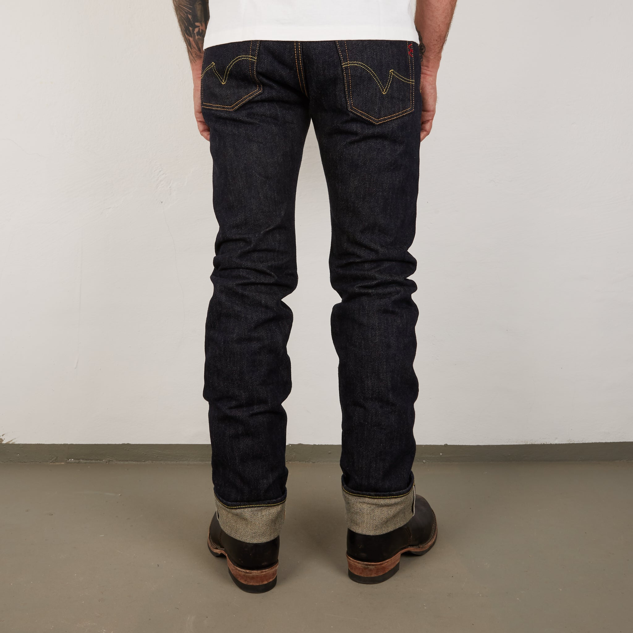 IH-666S - 21oz Slim Straight Cut Jeans Indigo