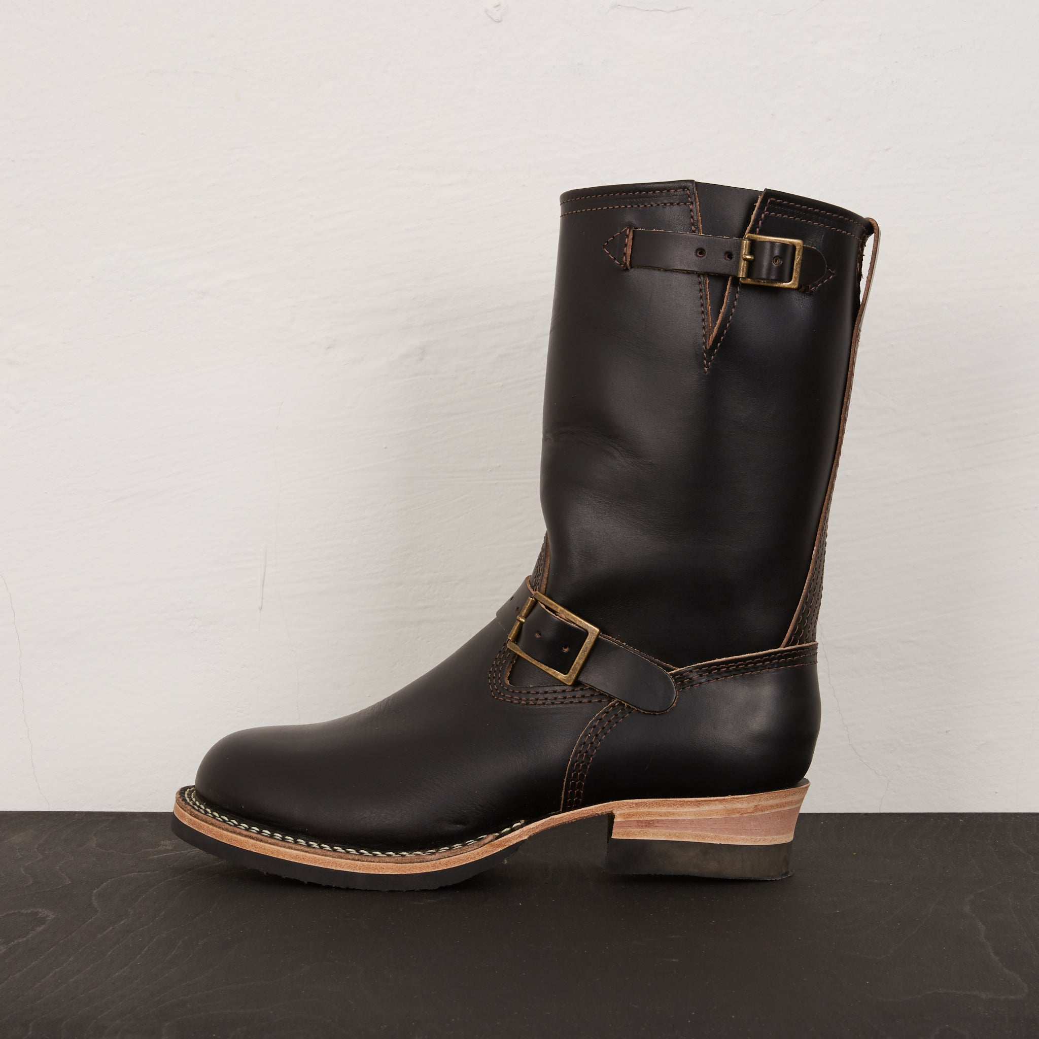 WESCO Custom Boss Engineer Horsehide Black