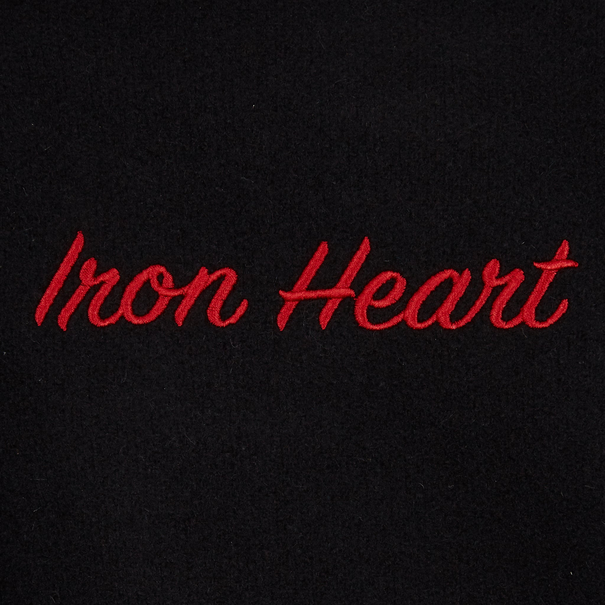 Dehen 1920 x Iron Heart Varsity Jacket - Black