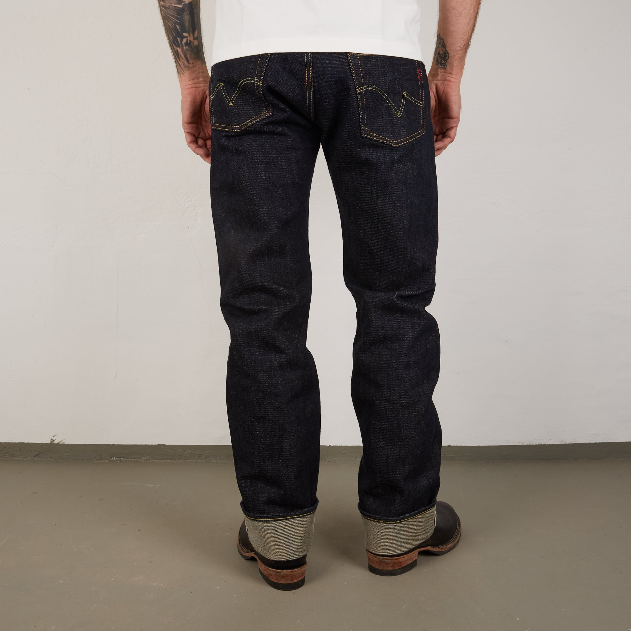 IH-634S - 21oz Straight Cut Jeans Indigo
