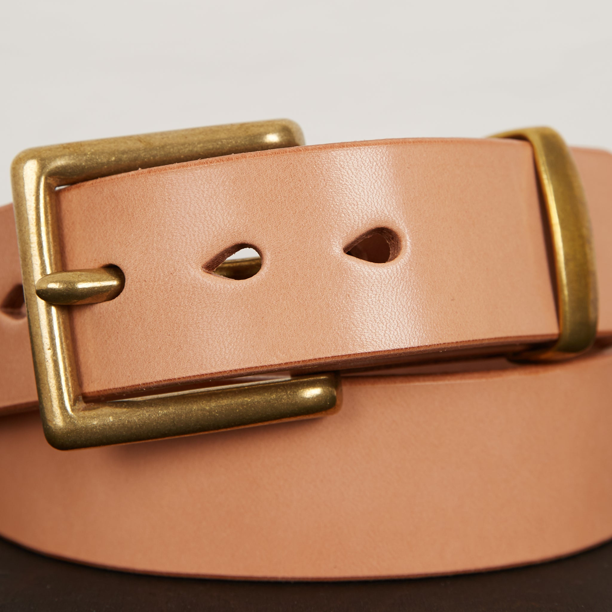 IHB-06 Heavy Duty Leather Belt Natural