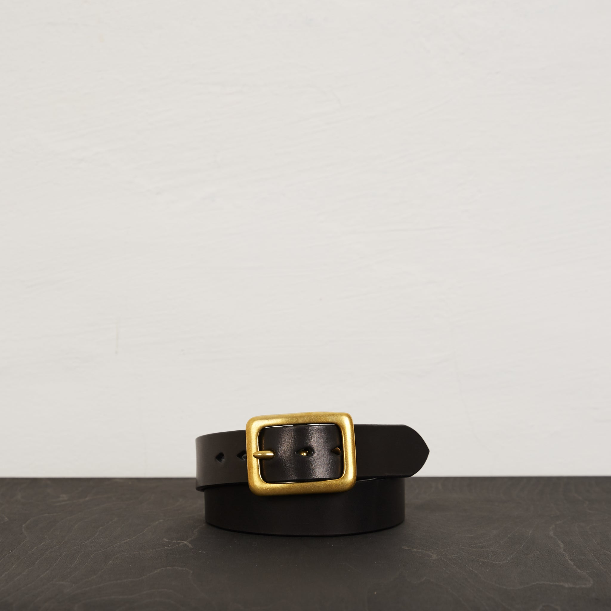 IHB-07 - Heavy Duty Leather Belt Black