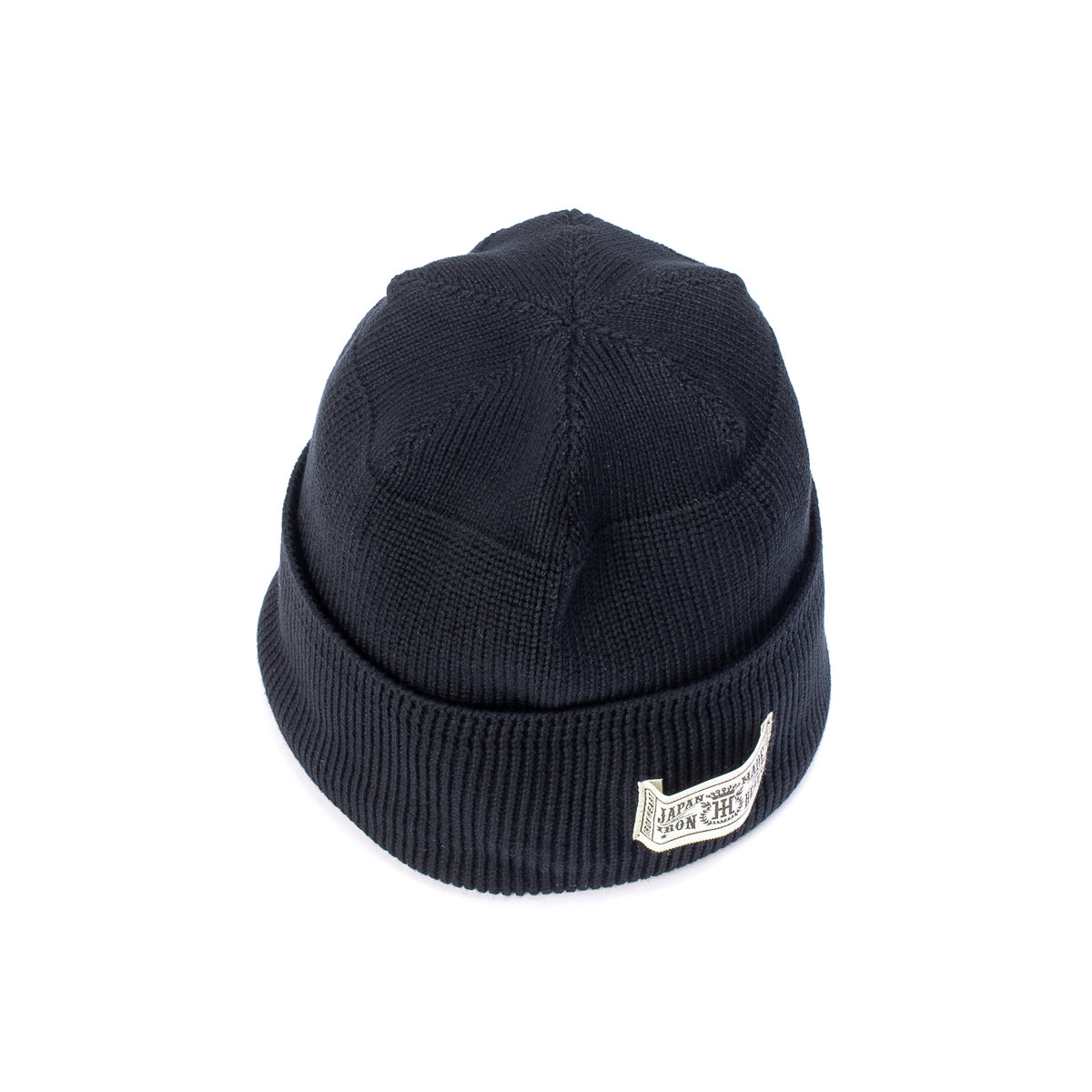 IHG-081 - Cotton Ribbed Beanie Black