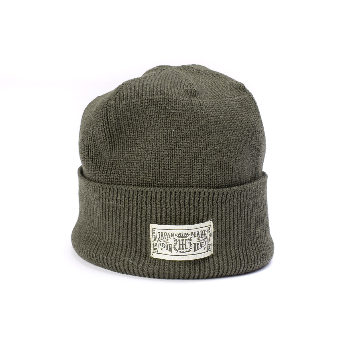 IHG-081 - Cotton Ribbed Beanie Olive