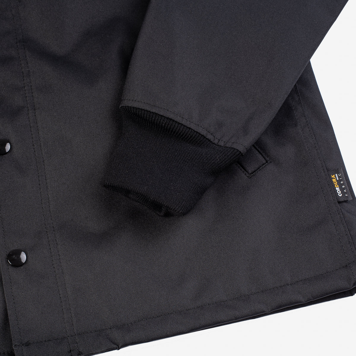 IHJ-12-BLK - Fleece Lined Cordura® Windbreaker Black