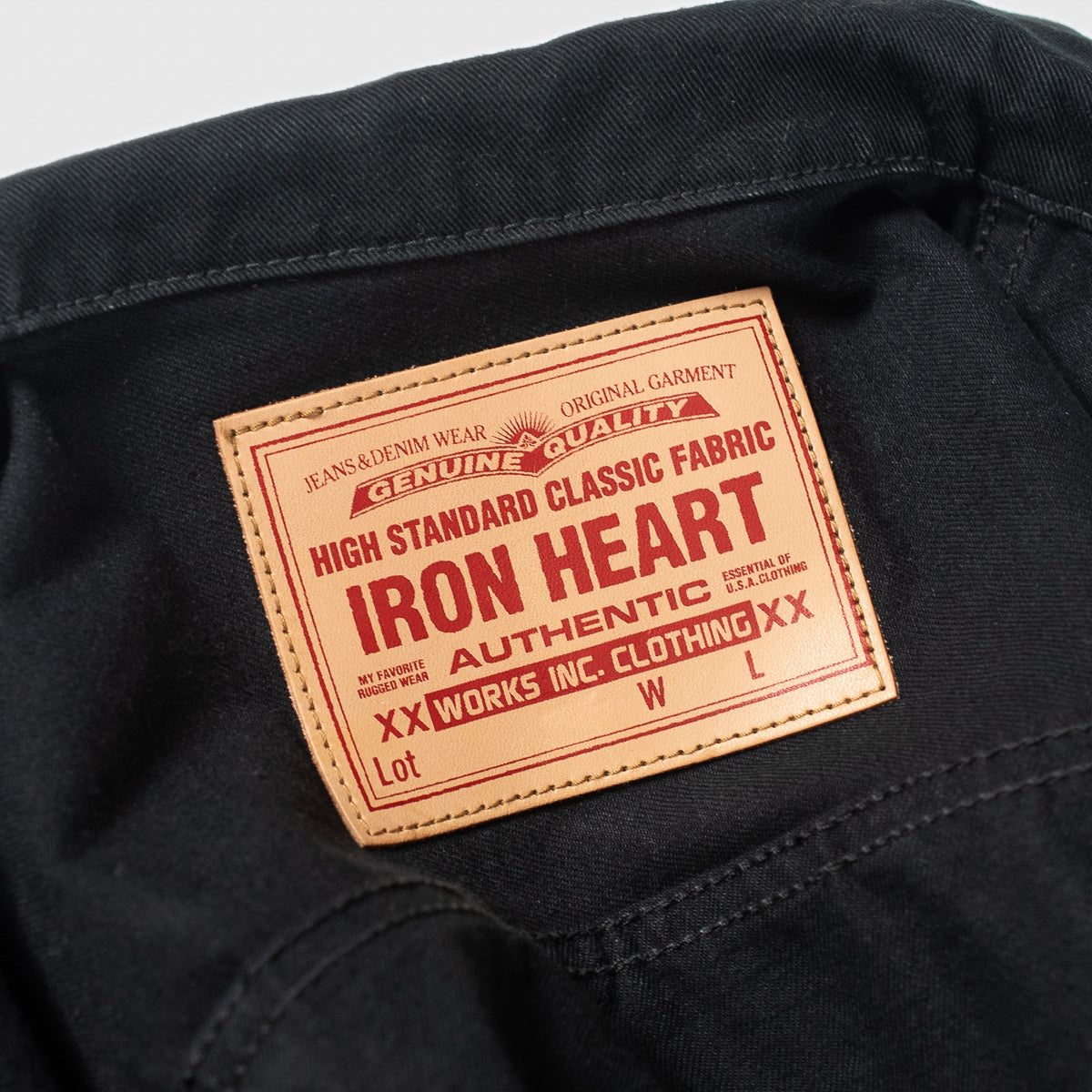 IHJ-84-BLK - 12oz Selvedge Chino Type II Jacket Black