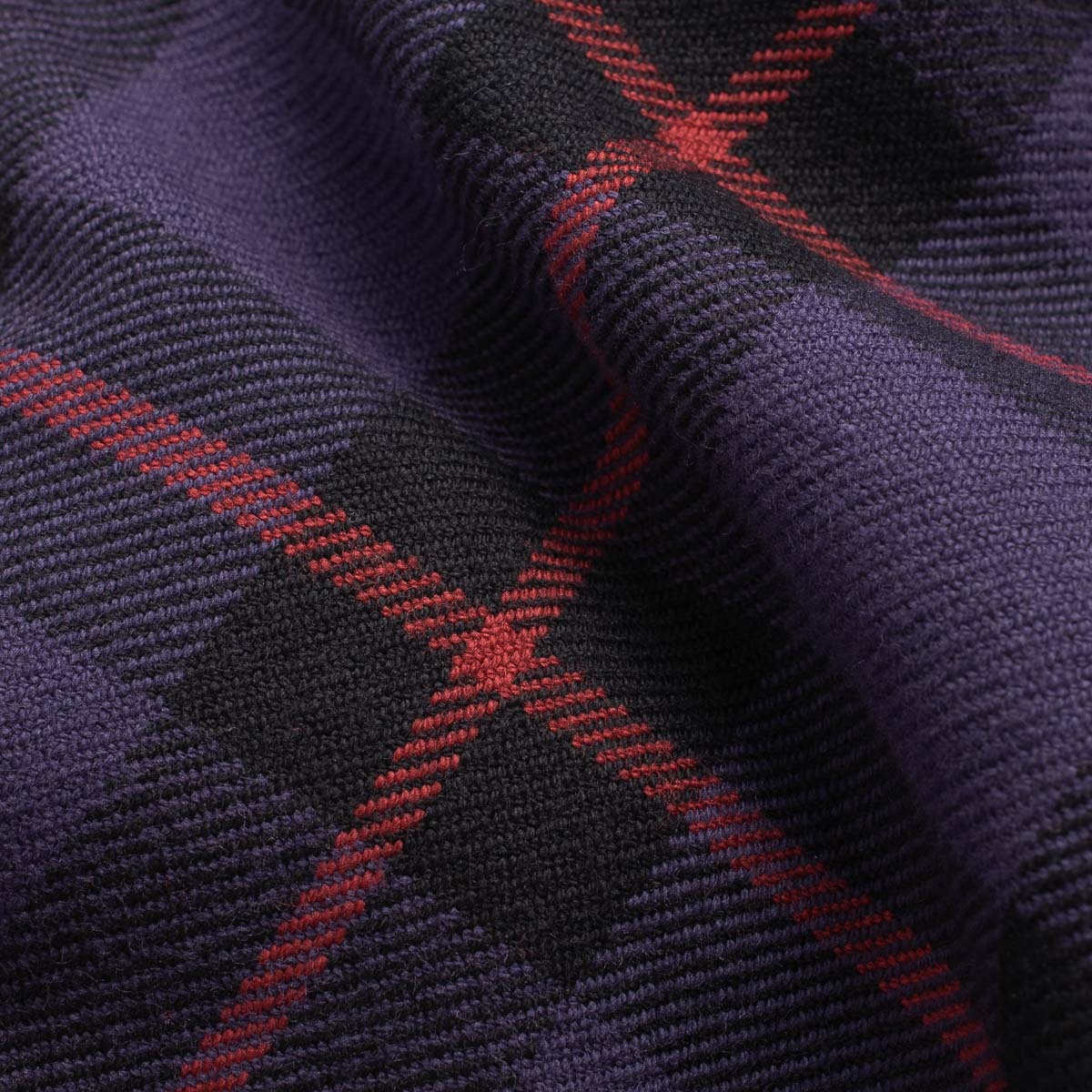 IHSH-260 - Flannel Tartan Check Western Shirt Purple