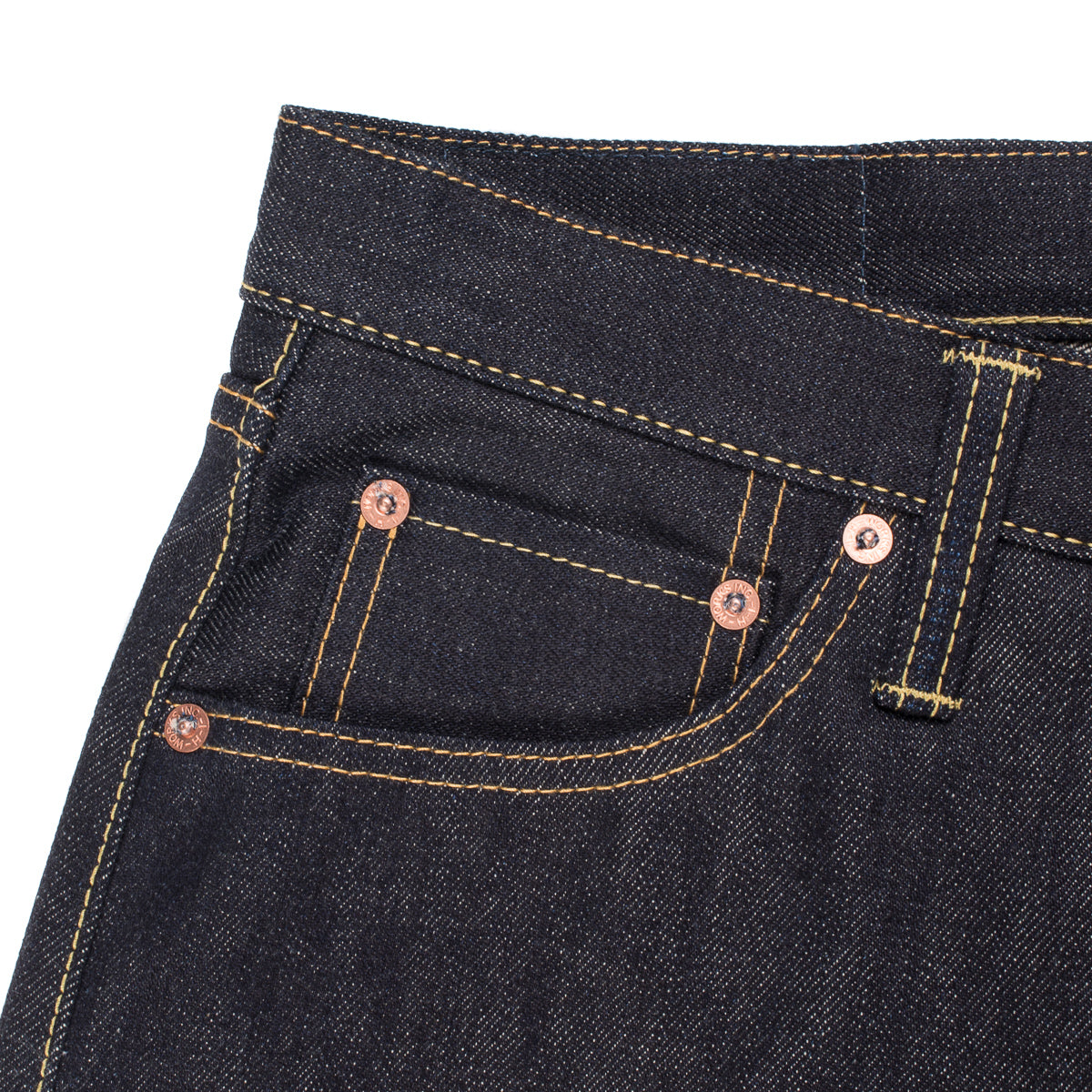 IH-777S-142 - 14oz Selvedge Denim Slim Tapered Jeans - Indigo
