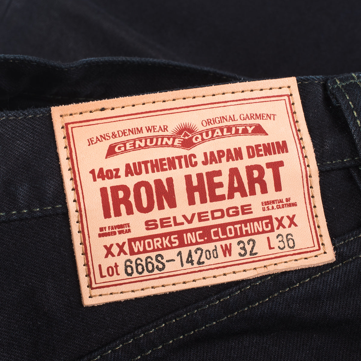 IH-666S-142od - 14oz Jeans Overdyed Black