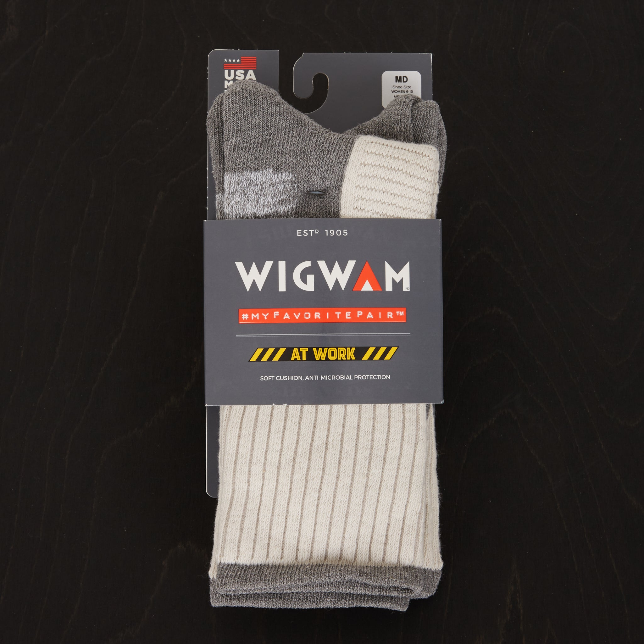 Wigwam At Work DuraSole Pro 2-Pack Socks White/Grey