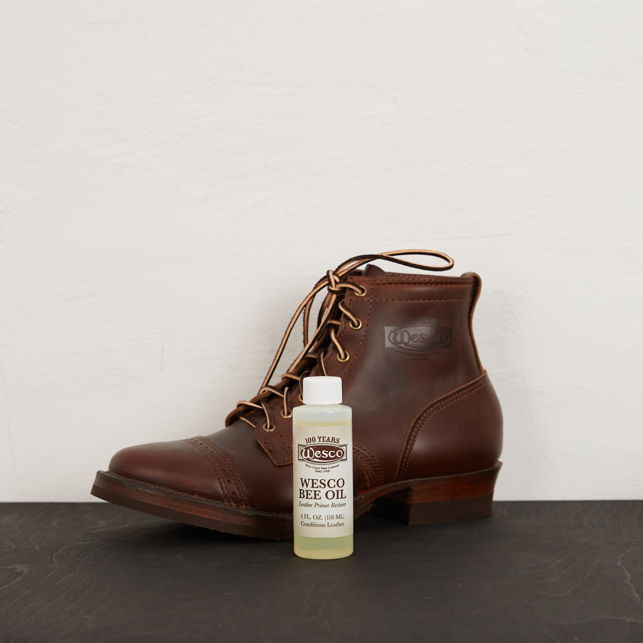 Wesco Leather Boot Dressing Bee Oil