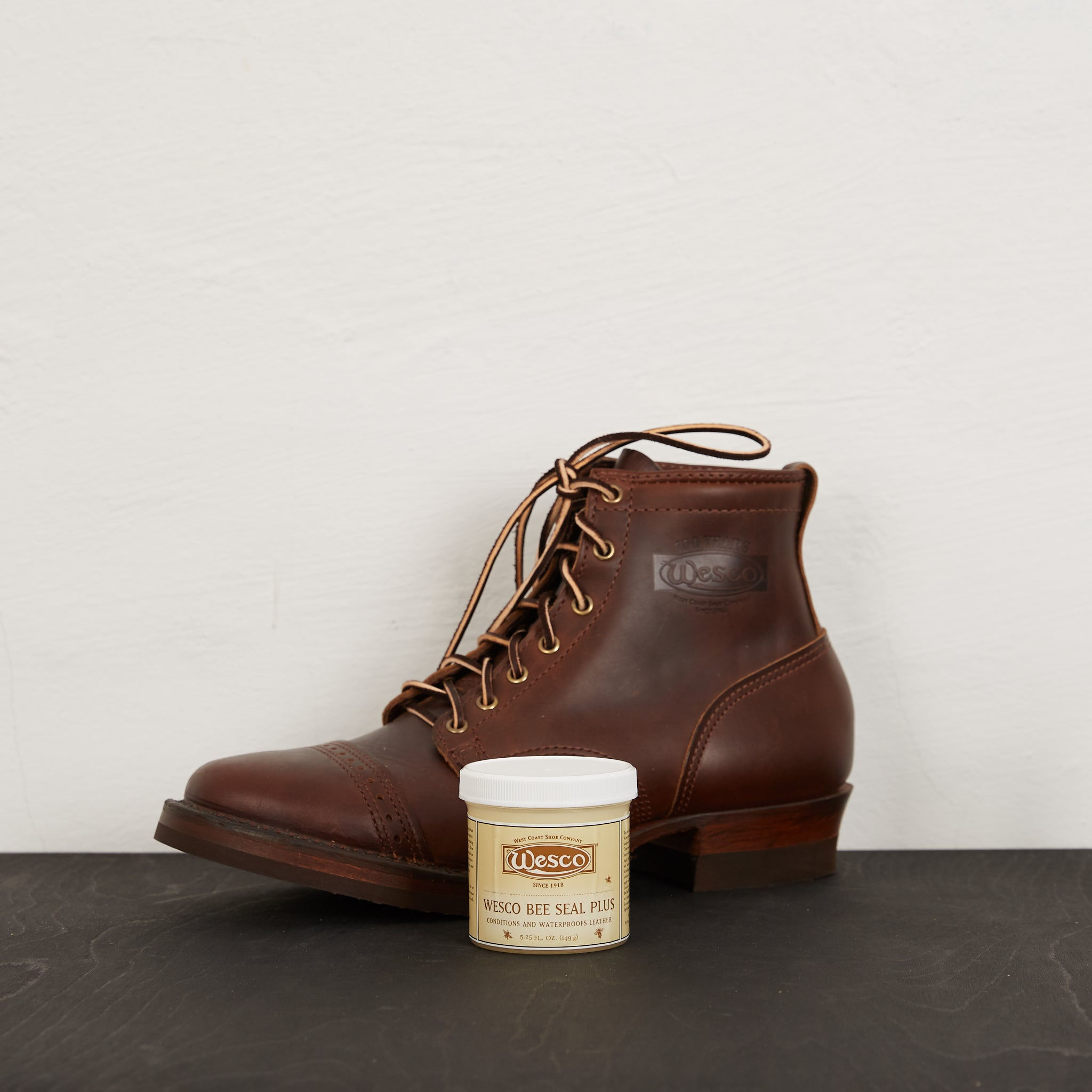 Wesco Leather Boot Dressing Bee Seal Plus