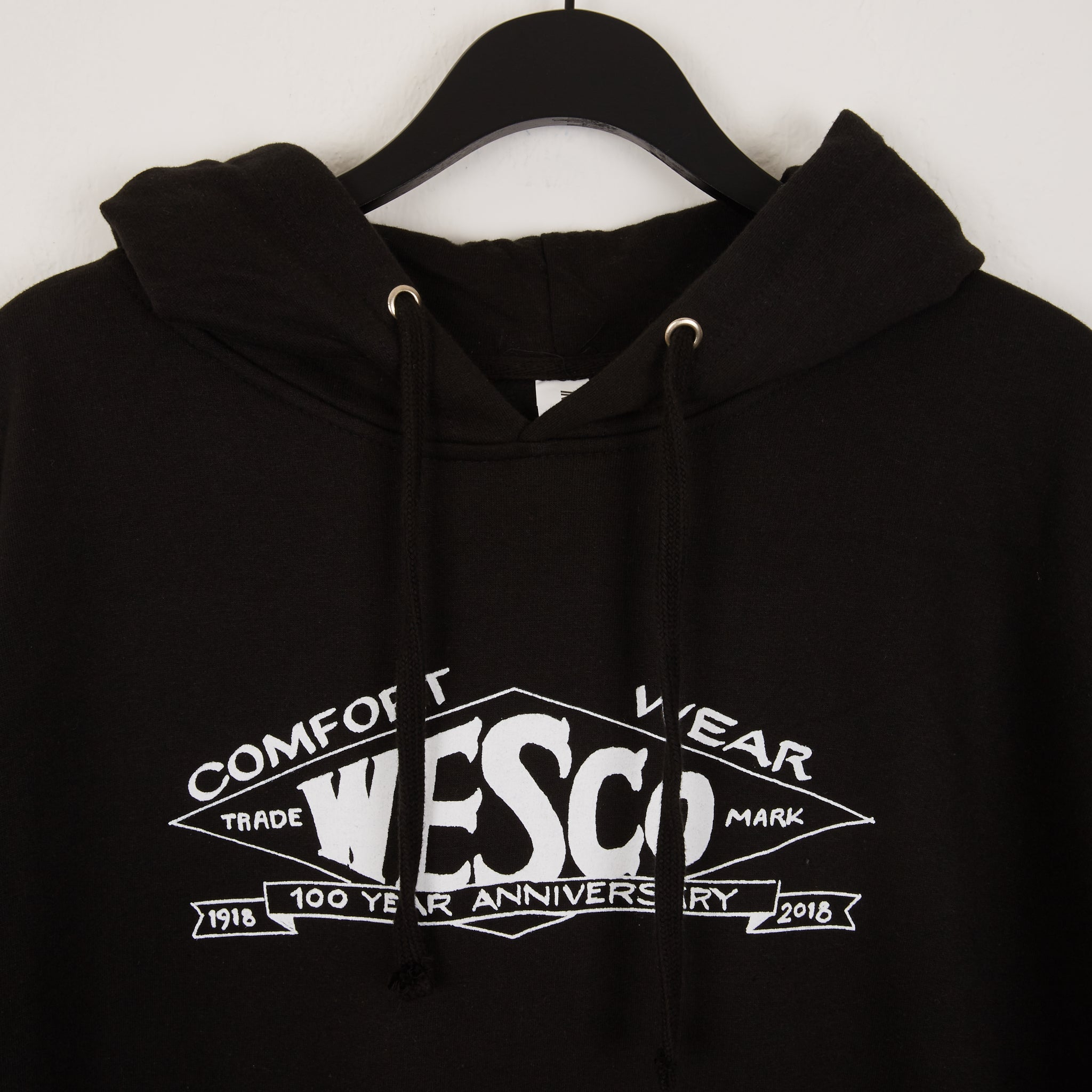 WESCO 100th year Diamond Logo Hoodie Black