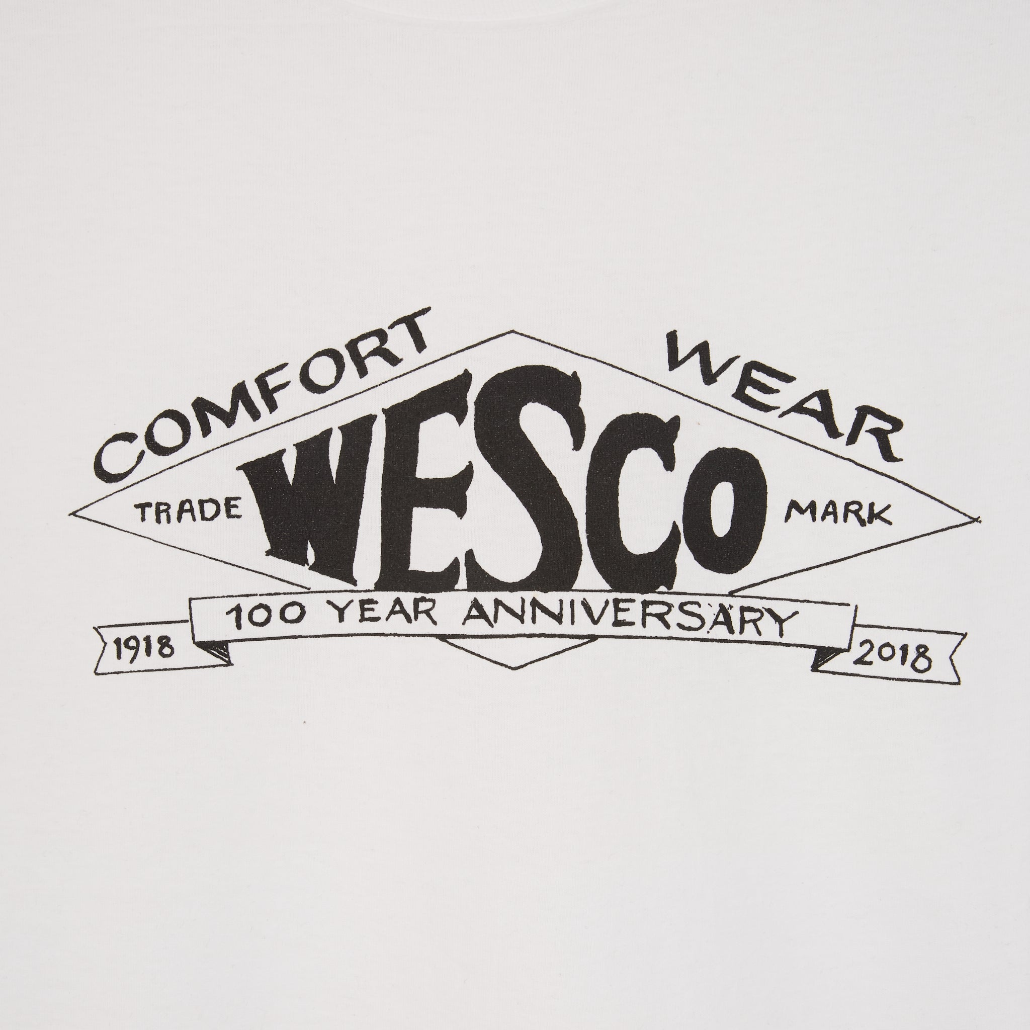 WESCO 100th year Diamond Logo T-Shirt White