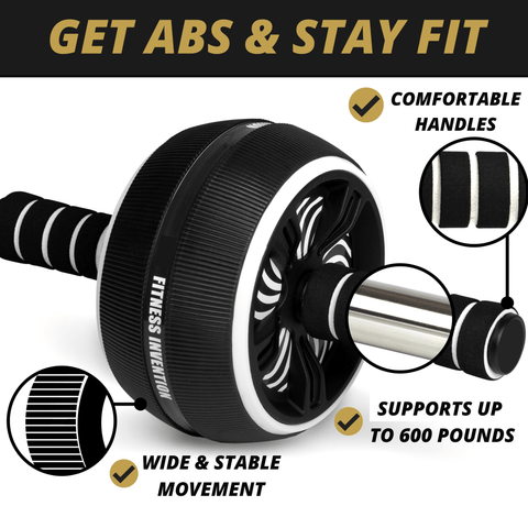 Ab Roller Wheel - 3-In-1 Ab Wheel with Jump Rope and Knee Mat - Ab Workout Equipment for Home Workouts