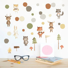 Load image into Gallery viewer, Forest Friends Removable Wall Sticker Pack