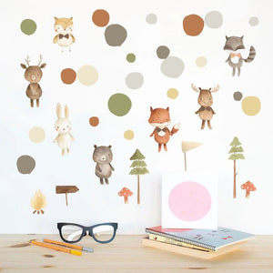Forest Friends Removable Wall Sticker Pack