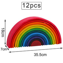 Load image into Gallery viewer, Large Montessori Wooden Rainbow
