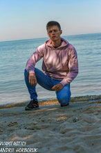 Load image into Gallery viewer, Ruslan Swims in a pink hoodie!