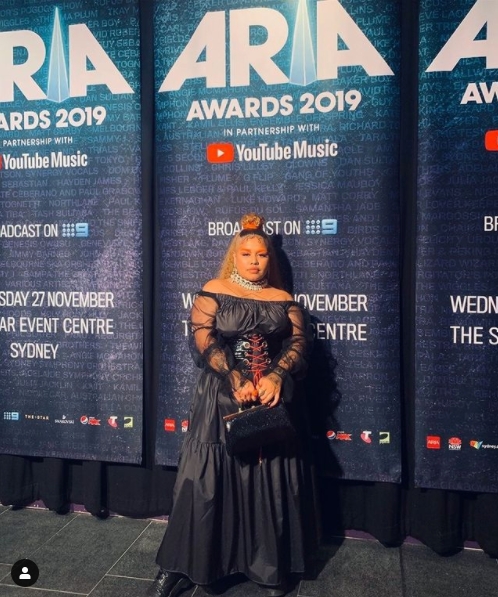 Kaiit Isshe in Vovo at the ARIA Awards