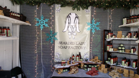 Bearded Lady Soap Factory Christmas Market Show Booth