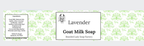 Cigar Band Label for Goat Milk Soap