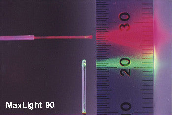 MaxLight 90 Output Compared to Straight Output