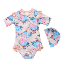 Load image into Gallery viewer, SOL BLOSSOM KIDS SHORTSLEEVE RASHGUARD