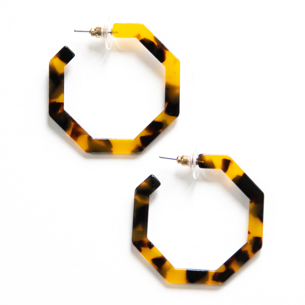 The Jami Earring (Dark Tortoise)