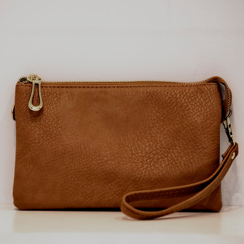 Light Brown Non-Tassel Crossbody/clutch