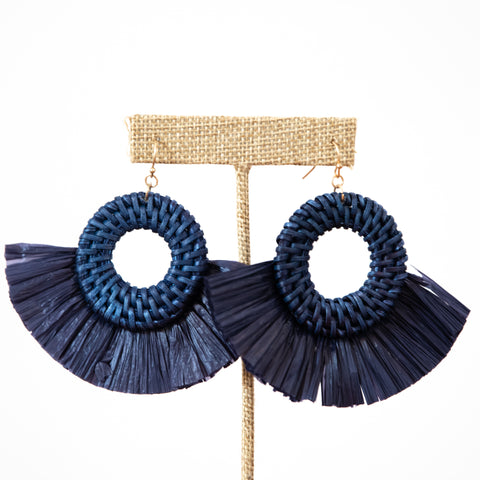 The Raffia earrings