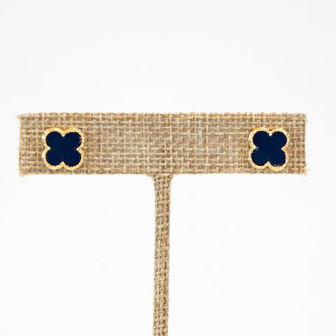 The Christina Earring (Navy)