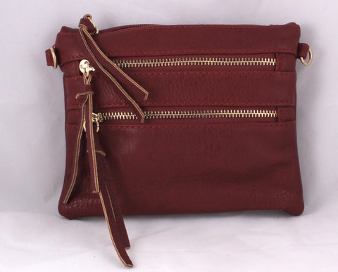 Burgundy Crossbody/Wristlet