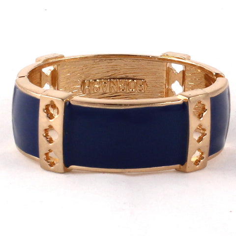 Enamel Bangle with Spade Cut Out