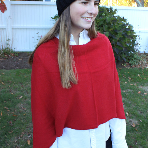 Cashmere Dress Topper in Crimson