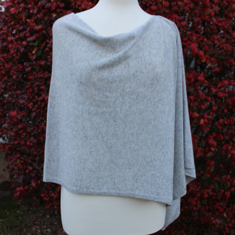 Cashmere Dress Topper in Ash