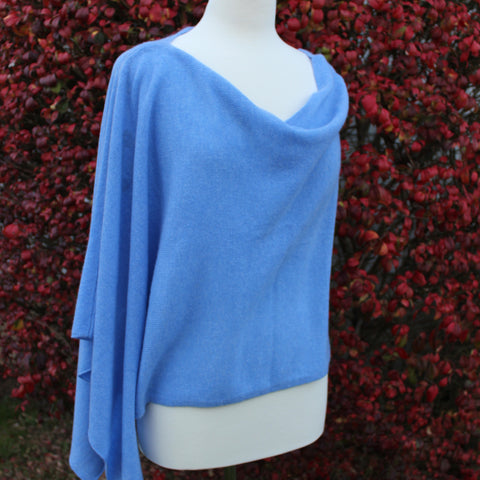 Cashmere Dress Topper in Horizon Blue