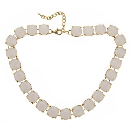 The Charlotte Necklace in White