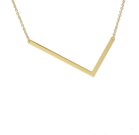 "Sideways Initial Necklace ""L"""