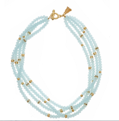 The Zoe Necklace in Aqua