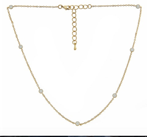 Short Tessa Necklace (white)