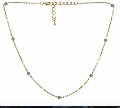 Short Tessa Necklace (Aqua)