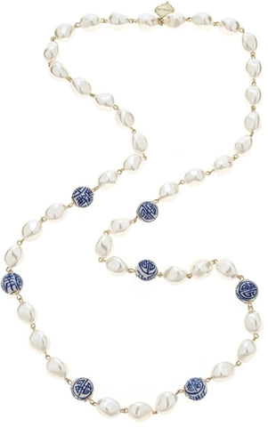 Long China Blue Necklace